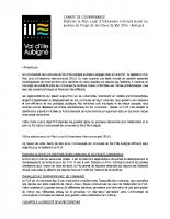 Charte de gouvernance à 19 communes