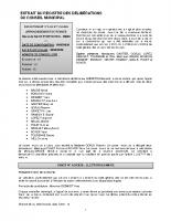 Conseil municipal du 27 mai 2020