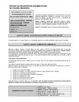 Conseil municipal du 29 juin 2020