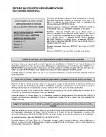 Conseil municipal du 12 juillet 2019