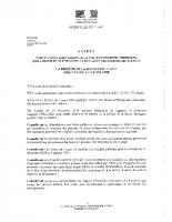 Arrêté préfectoral portant règlementation vente produits chimiques inflammables ou explosifs fêtes de fin d'année 2019