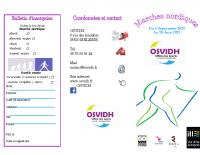 Plaquette Marche nordique 2020 – 2021
