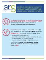 Affiche urgences estivales 2018