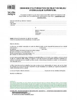 Demande d'autorisation de rejet dans un exutoire privé